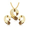 The99Jewel Gold Plated Austrian Stone Pendant Set - 1202001
