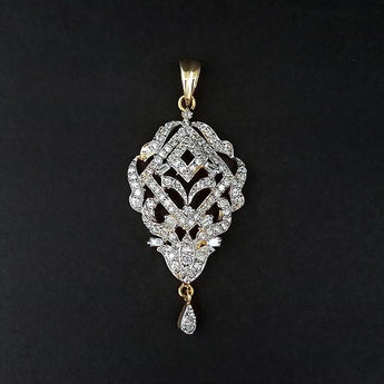 Kriaa AD Stone Gold Plated Pendant - 1202158