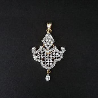 Kriaa AD Stone Gold Plated Pendant - 1202159