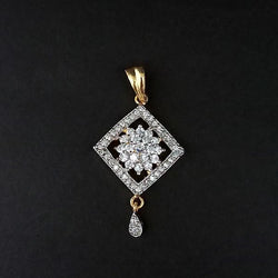 Kriaa AD Stone Gold Plated Pendant - 1202160