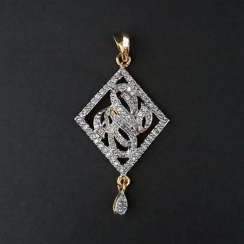 Kriaa AD Stone Gold Plated Pendant - 1202169