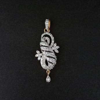 Kriaa AD Stone Gold Plated Pendant - 1202173