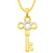 Kriaa Gold Plated Key Design Chain Pendant