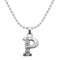"Regina Rhodium Plated "" P "" Alphabet Chain Pendant"