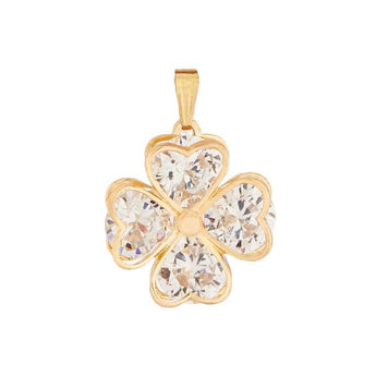 Tip Top Fashions Cubic Zirconia Stone Gold Plated Pendant - 1203502