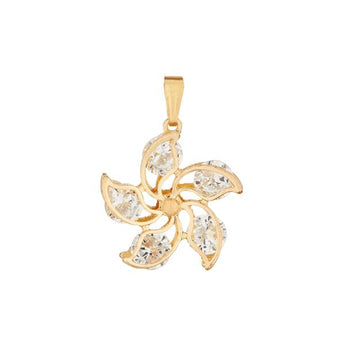 Tip Top Fashions Zinc Alloy Gold Plated Cubic Zirconia Pendant - 1203503