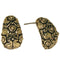 14Fashions Antique Gold Plated  Stud Earrings - 1302801