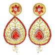 The99Jewel Austrian Stone Gold Plated Dangler Earrings - 1304539