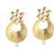 Tip Top Fashions Kundan Gold Plated Pearl Drop Dangler Earrings - 1305020