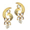 Aurum Kundan Gold Plated Pearl Drop Dangler Earrings - 1305023