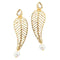 Aurum Kundan Gold Plated Pearl Dangler Earrings - 1305032