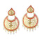 Kriaa Austrian Stone Gold Plated Chandbali Earrings