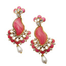 Kriaa Kundan Gold Plated Stone Dangler Earrings