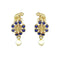 Kriaa Elephant Design Gold Plated Dangler Earrings