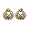 Kriaa Kundan Stone Gold Plated Dangler Earrings