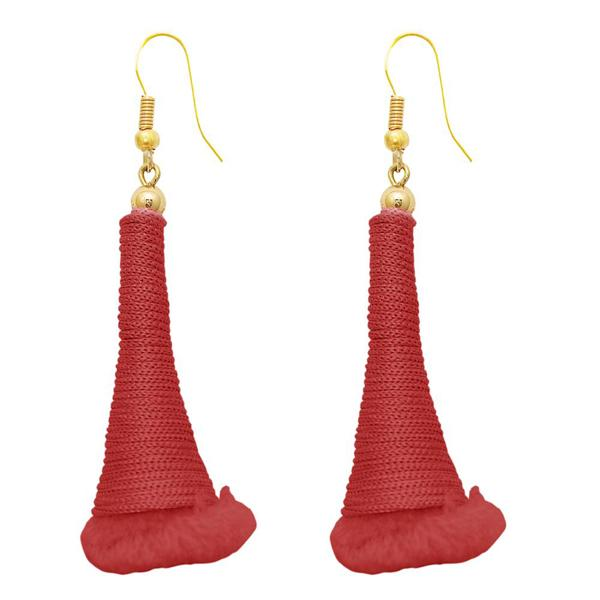 The99Jewel Gold Plated Red Thread Earrings - 1308318A
