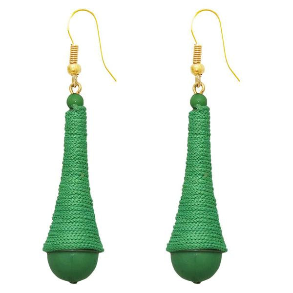 The99Jewel Gold Plated Green Thread Earrings - 1308319I
