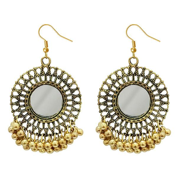 Jeweljunk Antique Gold Plated Afghani Earrings - 1308362A