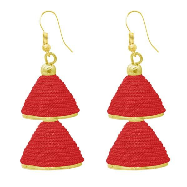 The99jewel Gold Plated Double Jhumki Thread Earrings - 1309016A