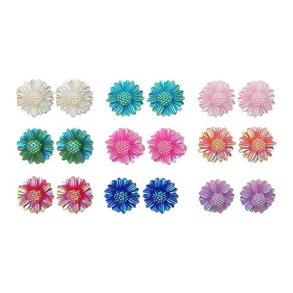 14Fashions Multicolor 9 Pair Of Stud Earrings Set - 1309204A