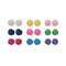 14Fashions Multicolor 9 Pair Of Stud Earrings Set - 1309205A