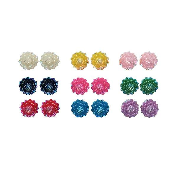 14Fashions Multicolor 9 Pair Of Stud Earrings Set - 1309206A