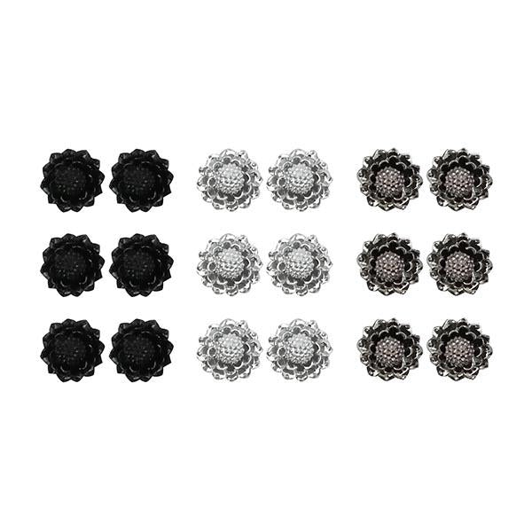 14Fashions Multicolor 9 Pair Of Stud Earrings Set - 1309206B