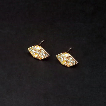 Urthn Gold Plated Austrian Stone Stud Earrings - 1309906A
