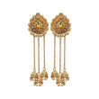 Kriaa Brown Austrian Stone Gold Plated Dangler Earrings - 1310568A