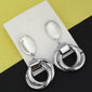 Urthn Silver Plated Dangler Earrings - 1310674A