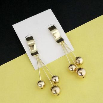 Urthn Gold Plated Dangler Earrings - 1310677