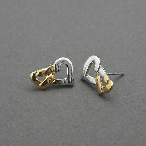Urthn 2 Tone Plated Stud Earrings - 1310709
