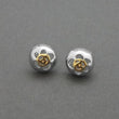 Urthn 2 Tone Plated Stud Earrings - 1310715