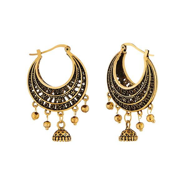 Jeweljunk Antique Gold Plated Afghani Earrings - 1311223A
