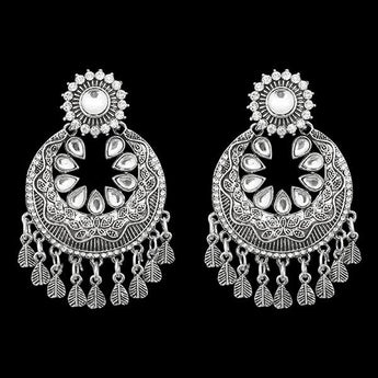 Jeweljunk Oxidised Afghani Earrings - 1311274