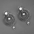 Jeweljunk Oxidised Plated Stone Dangler Earrings