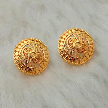 Kriaa Gold Plated Stud Earrings - 1311781