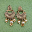 Tip Top Fashions Gold Plated Pearl Dangler Earrings - 1312029B