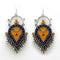 Kriaa Blue And Yellow Meenakari Afghani Earrings