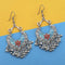 Tip Top Fashions Blue And Red Silver Plated Meenakari Afghani Earrings - 1312435F