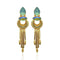 Infinity Blue Crystal Stone Gold Plated Dangler Earrings - 1313106F