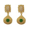 Infinity Green Pota Stone Gold Plated Pearl Dangler Earrings - 1313110E