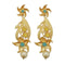 Infinity Blue Austrian Stone Pearl Drop Gold Plated Dangler Earrings - 1313116D