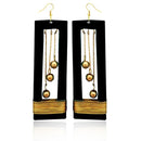 Urthn Zinc Alloy Gold Plated Dangler Earrings