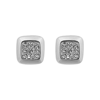 Kriaa Austrian Stone Silver Plated Stud Earrings - 1313822