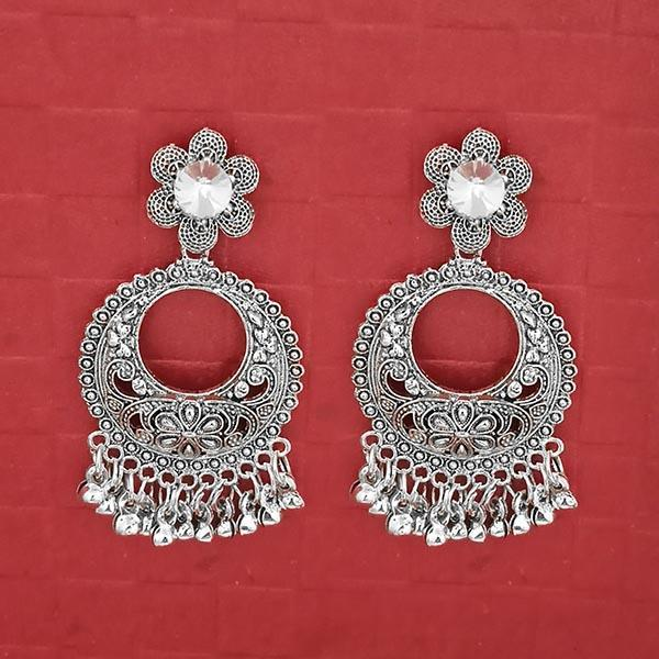 Jeweljunk Austrian Stone Silver Plated Dangler Earrings -1314734