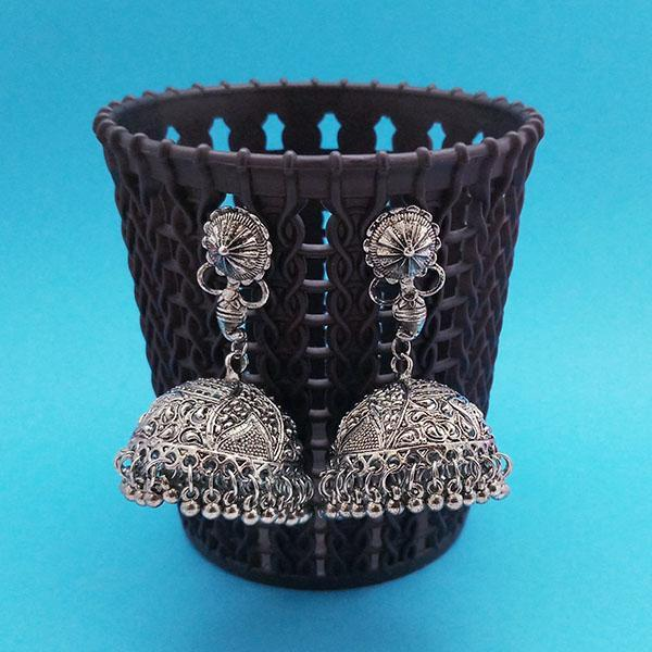 Jeweljunk Oxidised Plated Jhumki Earrings - 1314846