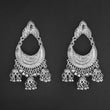Jeweljunk Silver Plated Afghani Dangler Earrings  - 1314855A
