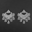 Jeweljunk Silver Plated Afghani Dangler Earrings  - 1314856A