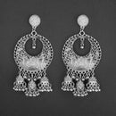 Jeweljunk Silver Plated Afghani Dangler Earrings  - 1314858A